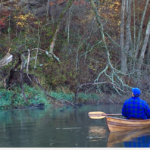 Bill on homemade walnut/cedar tree kayak